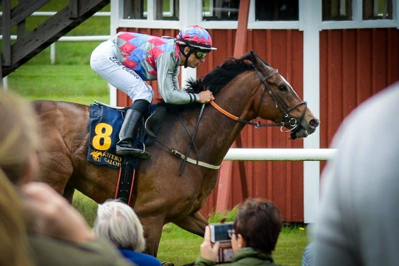 Beentheredonethat vinner med Elione Chaves. Göteborg 160522. Foto: Amie Karlsson/GalopSport
