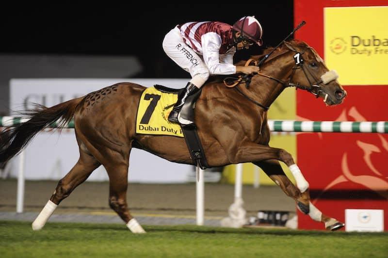 Al Shemali/Royston Ffrench vinder Dubai Duty Free (Gr.1) i 2010. Foto: Andrew Watkins / Dubai Racing Club.