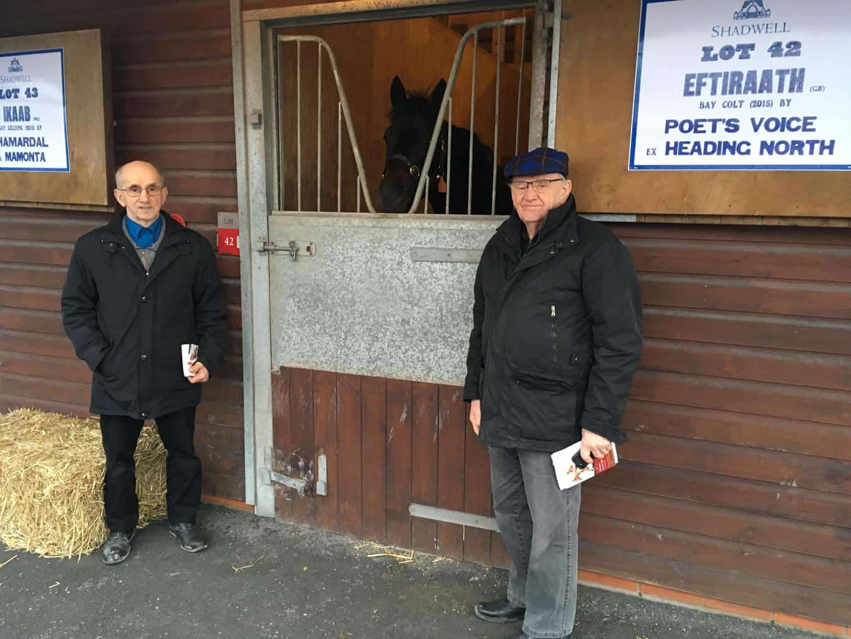 John og Villy Nielsen på Goffs UK i Doncaster. Foto: GalopSport.