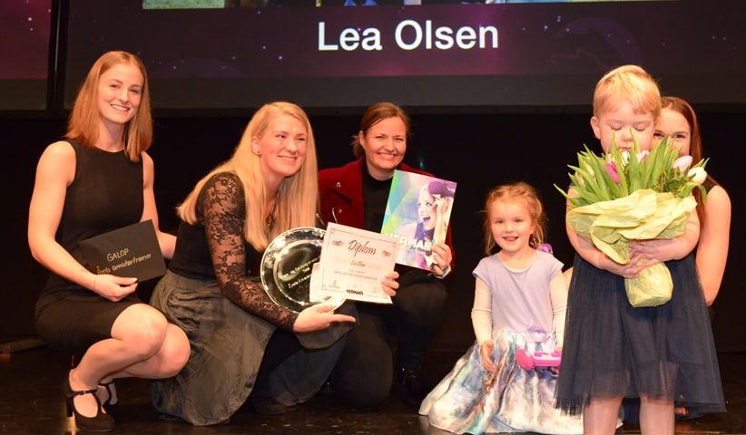 Lea Olsen var tre gange på podiet lørdag eftermiddag i Aarhus. Foto: Lasse Jespersen.