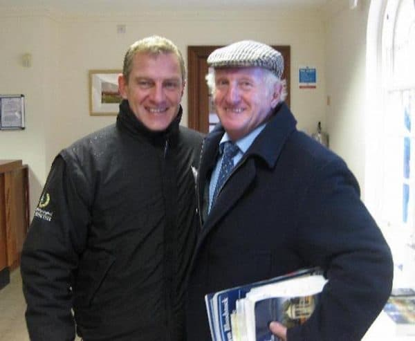 Mange år senere... Lars Kelp og Martin Pipe genforenet i Newmarket.